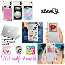 iDecoz All Cell Phones Pocket Mirror Ring Charms SwipeWipes