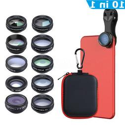 Apexel 10 In 1 Mobile Phone Lens Kit Macro Fisheye Zoom Came