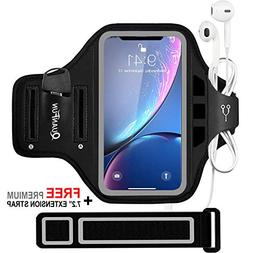 QUANFUN Compatible iPhone X XS 8/7/6/S Plus Sports Armband,