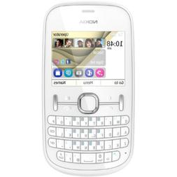 Nokia Asha 201 White Keyboard Unlocked GSM DualBand Bar Cell