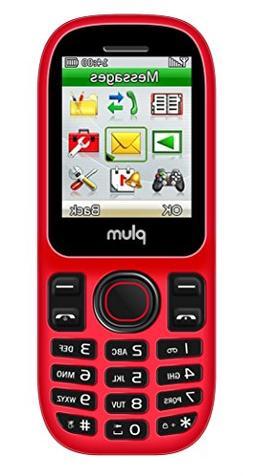 "Plum Bar 3G Unlocked Dual SIM Phone  - 1.8"" Display GSM Quad"