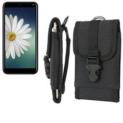 Belt pouch/holster for Doogee X53, black | extremely robust