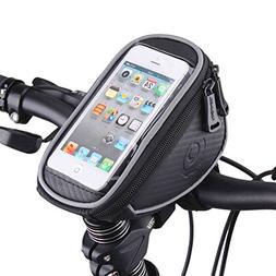 Bike Handlebar Bag, MOOZO Bicycle Top Tube Pouch, Bike Cycli