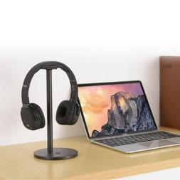 LESHP Black 2-in-1 Wireless Charging Headphone Stand for Mob