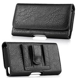 Synthetic PU Leather Executive Belt Holster Wallet Pouch Car