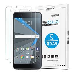 Blackberry DTEK50 Screen Protector,  OMOTON Tempered Glass S