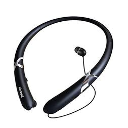 Bluetooth Headphones Retractable Earbuds Neckband Wireless H