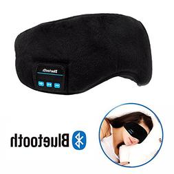 Bluetooth Sleeping Eye Mask Wireless Headphone, Voerou Adjus