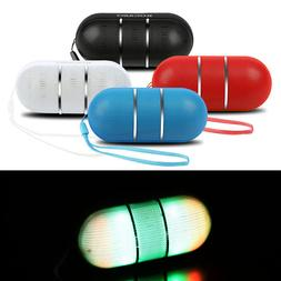 Bluetooth Stereo Speaker Portable Wireless RainBow LED Light