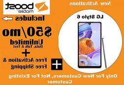 Boost Mobile LG Stylo 6 + 1st month $50 Unltd talk/text/data