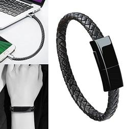 Bracelet USB Type C Cable Data Sync Durable Leather Braided