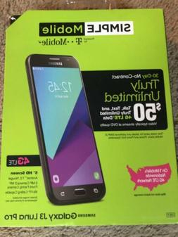 "Brand New SIMPLE Mobile Samsung Galaxy J3 Luna Pro 5"" 4G LTE"