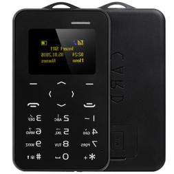 "AIEK C6 1.0"" Card Phone Silm Light Bluetooth 2.0 Calender Al"