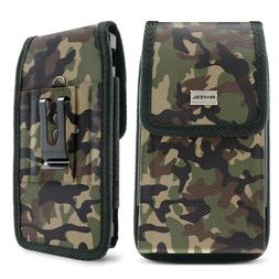 Camo Cell Phone Holder Pouch w/ Belt Loop & Clip Holster Cam