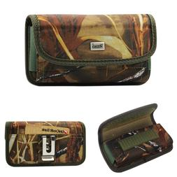 Reiko Camouflage Canvas Metal Belt Clip Case Card Pocket for