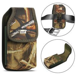 REIKO Camouflage Rugged Canvas Belt Clip Case Pouch for Cell