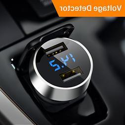 Ainope USB 12V Car Adapter, Cigarette Lighter Voltage Meter