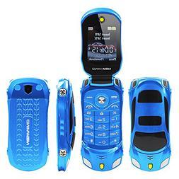 Sports Car Model F15 Mini Flip Phone Dual SIM Card MP3 Backu