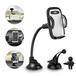 Car Phone Holder 3-in- 1 Car Mount for Windshield, Dashboard
