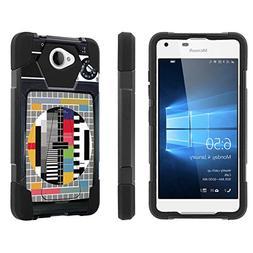 Lumia 650 Case,   Armor Tough Shock Proof Kickstand Case -