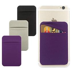 3Pack Cell Phone Card Holder for Back of Phone,Stick On Card