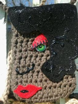 Cell Phone Carriers, crocheted