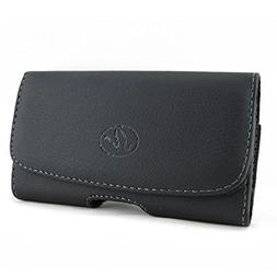 Cell Phone Case for Gionee W909 Black Leather Look Horizonta