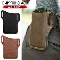 Cell Phone Waist Belt Holster Loop Holder Pack Bag PU Leathe