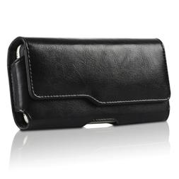 Cell Phones Horizontal Carrying Genuine Leather Pouch Case W