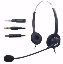 Comdio Corded Mobile Phone Headset with Flexible Noise Cance