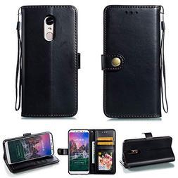 Compatible Xiaomi Redmi 5 Plus Case, Scheam Luxury Leather C