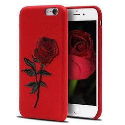 Creative Embroidery Rose Mobile Phone Caes For iPhone 7 Leat