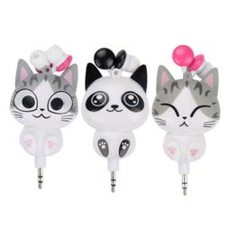 Cute Mobile Phone Headset Cartoon Panda Design Earphone Retr