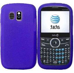 Dark Purple Silicone Jelly Skin Case Cover for Pantech Link