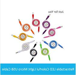 Sudroid 1M 3Ft 5 Pack of Data Cable Retractable Data Sync &