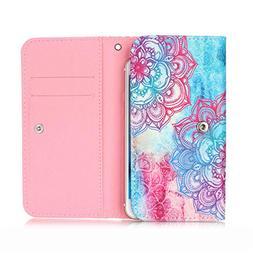 """Doogee X53 5.3"""" Flip Case, JULAM Universal Wallet Bag PU Lea"""