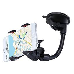 YZtree Double Clip 360 Rotating Flexible Car Mount Cell Pho