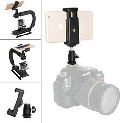 DSLR Camera Hot Shoe Smartphone Mount Monitor Mount w/Cellph