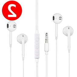 Premium Earbuds/Headphones/Earphones with Microphone & Stere