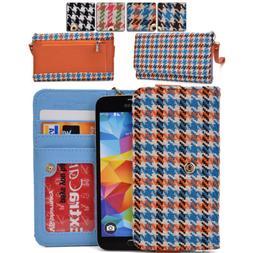 KroO ECMT14 Houndstooth Protective Wallet Case Clutch Cover
