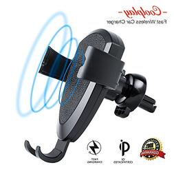 Fast Wireless Car-Charger Vent-Mount – for Android-iPhone-