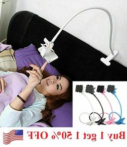 Flexible 360 Clip Mobile Cell Phone Holder Lazy Bed desk Bra