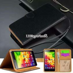 Flip Black Cover Stand Wallet Leather Case For Various ZTE M