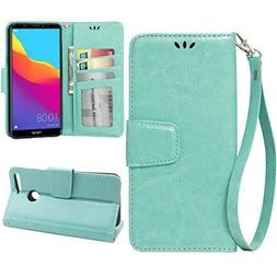 Flip Case for Huawei Honor 7A, Scratch-Proof Leather Wallet