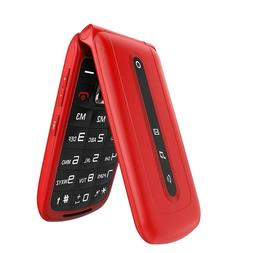 Flip Mobile Phone Old Seniors SOS Big Button Dual SIM Standb