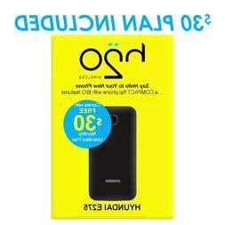 Flip Phone 3G GSM Unlocked Hyundai E275 Dual Sim 3G FLIP Blu