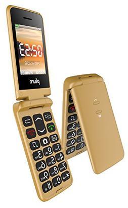 Plum Flipper - Unlocked GSM Flip Phone Big Screen Big Keypad