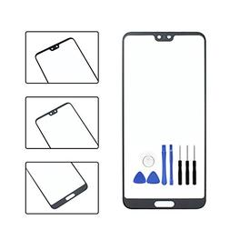 Front Panel Outer Screen Glass Lens for Huawei P20 pro - Bla