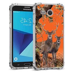 Galaxy J3 Emerge Camo Case, BAYKE TPU Bumper Protective Cove