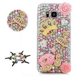 STENES Galaxy J7 Case - Stylish - 100+ Bling Crystal - 3D Ha